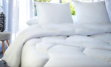 Couette chaude 500g/m² et oreiller anti acariens Phytopure huiles essentielles de la marque Blanrêve